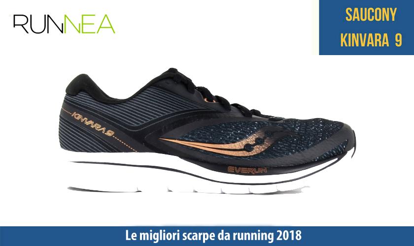 migliori scarpe da running 2018 Saucony Kinvara 9