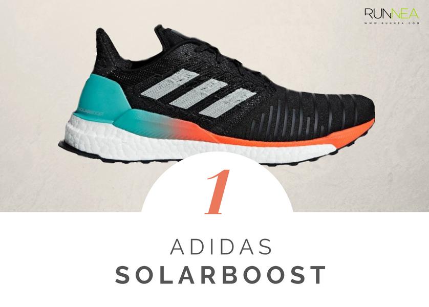 Scarpe da running massima ammortizzazione 2018 per i corridori neutri: Adidas Solar Boost
