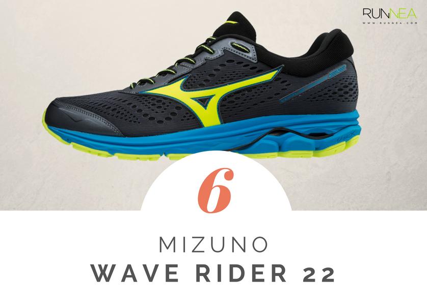 Scarpe da running massima ammortizzazione 2018 per i corridori neutri: Mizuno Wave Rider 22