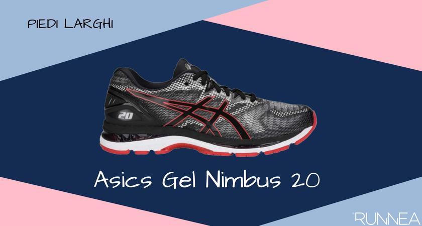 Scarpe da running per i corridori con piedi larghi, ASICS Gel Nimbus 20
