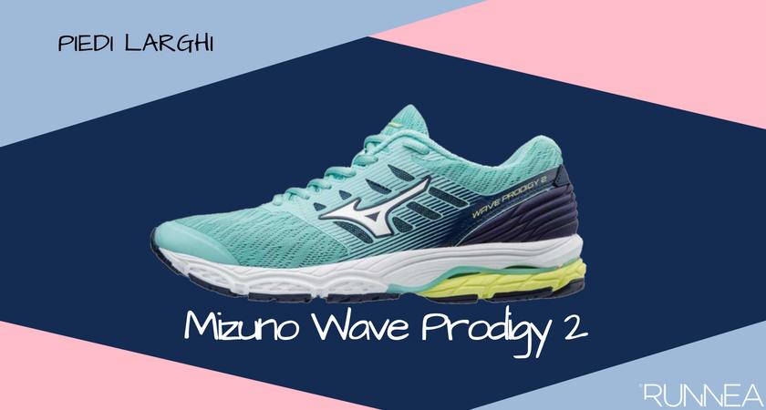 Scarpe da running per i corridori con piedi larghi, Mizuno Wave Prodigy 2