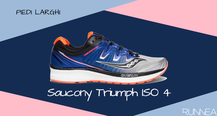 Scarpe da running per i corridori con piedi larghi, Saucony Triumph ISO 4