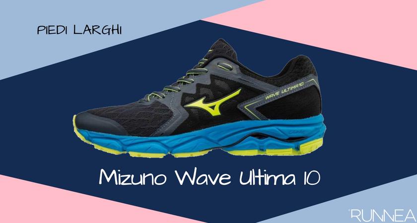 Scarpe da running per i corridori con piedi larghi, Mizuno Wave Ultima 10