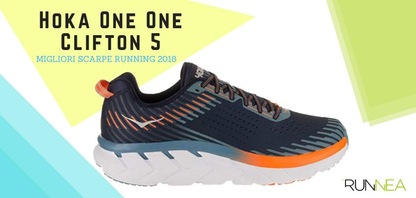 Le migliori scarpe da running 2018, Hoka One One Clifton 5
