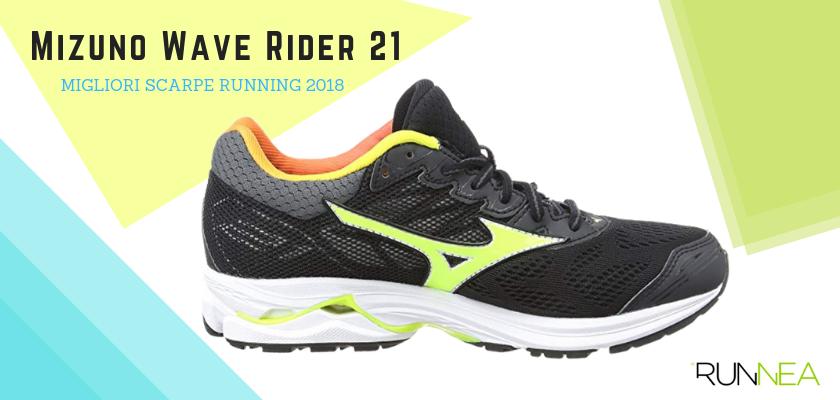Le migliori scarpe da running 2018, Mizuno Wave Rider 21