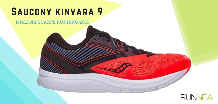 Le migliori scarpe da running 2018, Saucony Kinvara 9