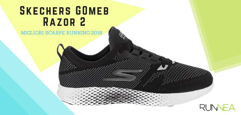 Le migliori scarpe da running 2018, Skechers GOmeb Razor 2
