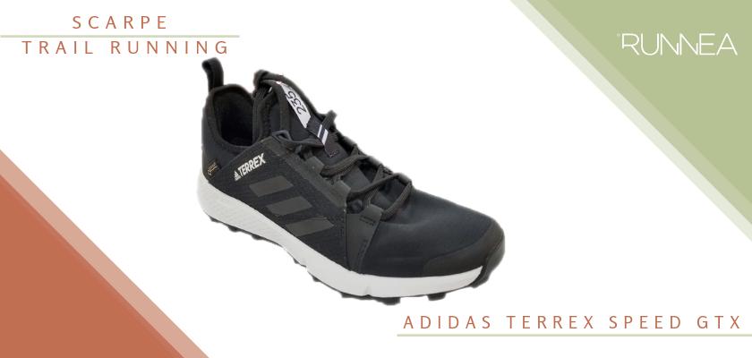 Migliori scarpe da trail running 2019, Adidas Terrex Speed GTX