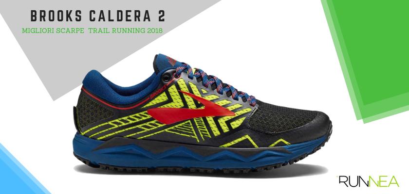 Le migliori scarpe da trail running 2018, Brooks Caldera 2