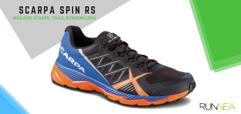 Le migliori scarpe da trail running 2018, Scarpa Spin RS