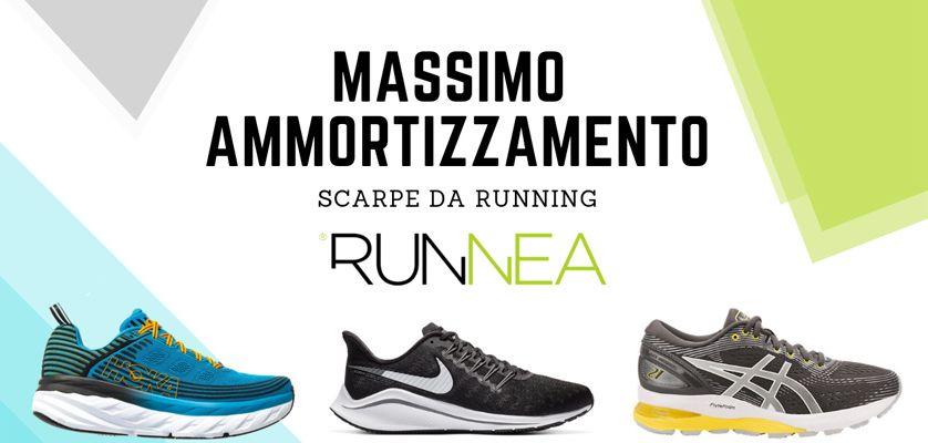Le migliori scarpe da running massimo ammortizzamento 2019