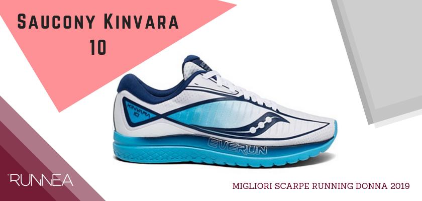 Migliori scarpe da running donna 2019, Saucony Kinvara 10