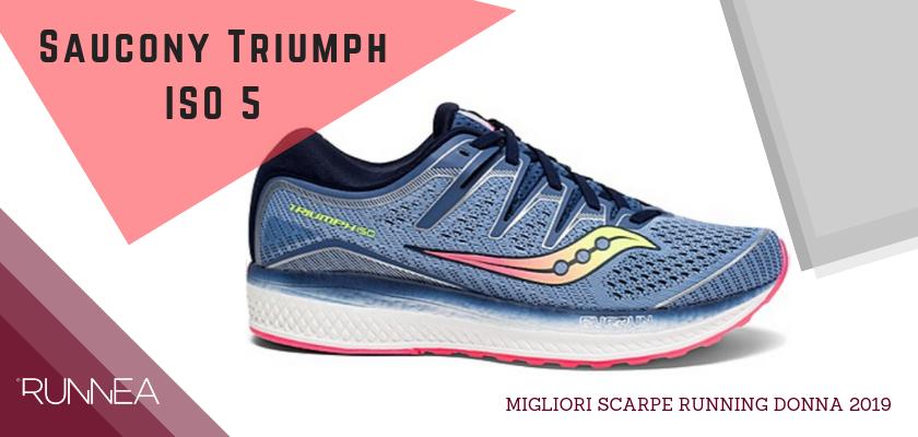 Migliori scarpe da running donna 2019, Saucony Triumph ISO 5