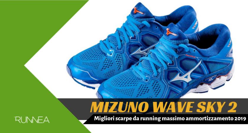 7288ec13ef2c57 Migliori scarpe da running massimo ammortizzamento 2019, Mizuno Wave Sky 2