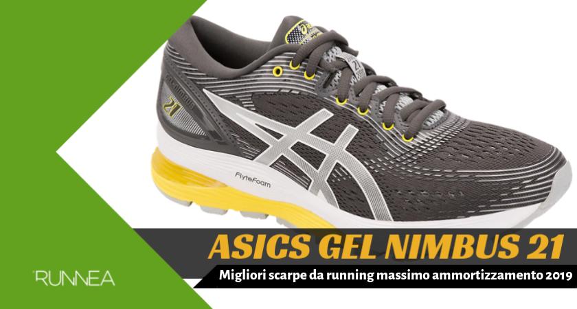 936c580535eb10 Migliori scarpe da running massimo ammortizzamento 2019, ASICS Nimbus 21