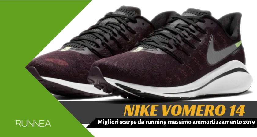 Migliori scarpe da running massimo ammortizzamento 2019, Nike Vomero 14
