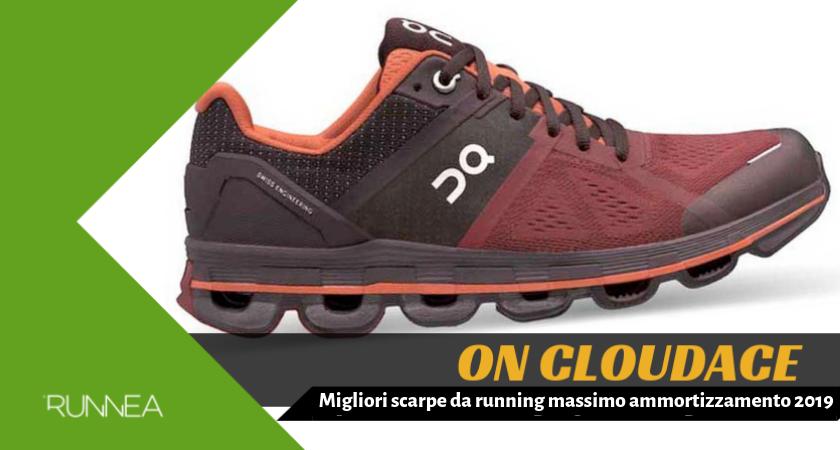 Migliori scarpe da running massimo ammortizzamento 2019, On Cloudace