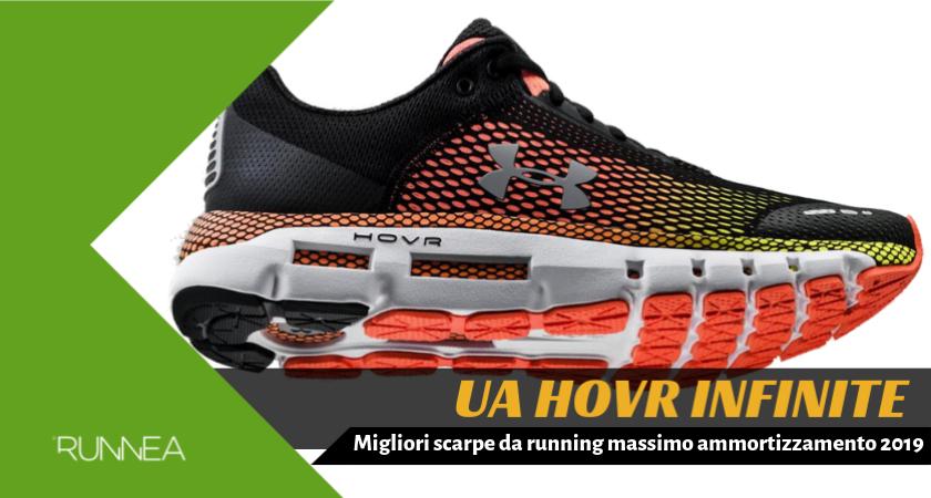 Migliori scarpe da running massimo ammortizzamento 2019, Under Armour HOVR Infinite