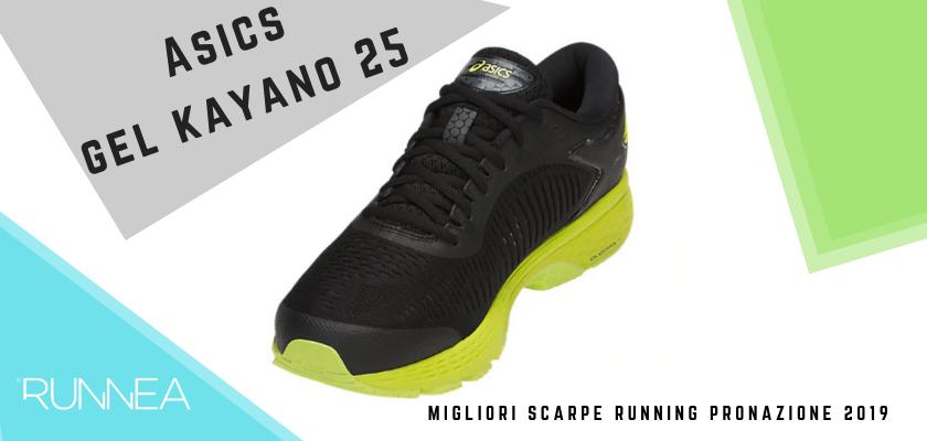 migliori scarpe running pronazione 2019, ASICS Gel Kayano 25
