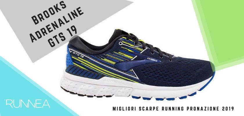Le migliori scarpe running pronazione 2019, Brooks Adrenaline GTS 19