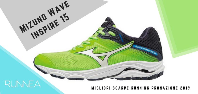 Le migliori scarpe running pronazione 2019, Mizuno Wave Inspire 15