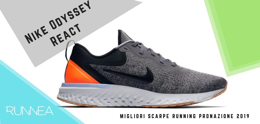 Le migliori scarpe running pronazione 2019, Nike Odyssey React