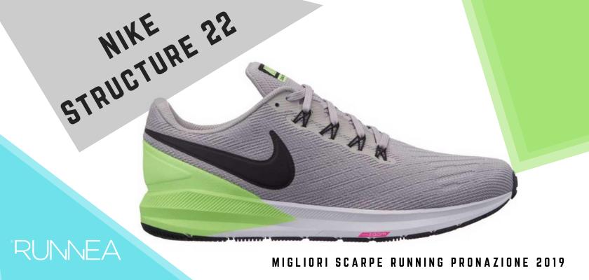 Le migliori scarpe running pronazione 2019, Nike Structure 22