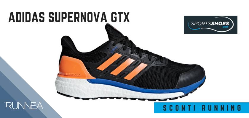 Sconti scarpe da running SportShoes 2019: le 12 migliori offerte disponibili, Adidas Supernova GTX