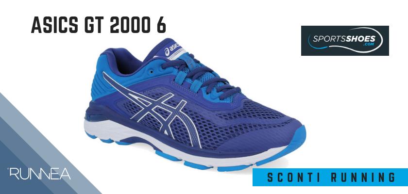 Sconti scarpe da running SportShoes 2019: le 12 migliori offerte disponibili, Asics GT 2000 6