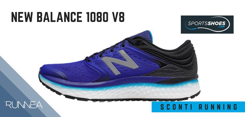 Sconti scarpe da running SportShoes 2019: le 12 migliori offerte disponibili, New Balance 1080 v8