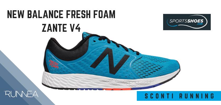 Sconti scarpe da running SportShoes 2019: le 12 migliori offerte disponibili, New Balance Fresh Foam Zante v4