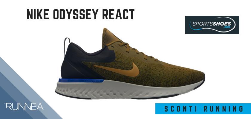 Sconti scarpe da running SportShoes 2019: le 12 migliori offerte disponibili, Nike Odyssey React