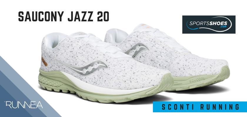 Sconti scarpe da running SportShoes 2019: le 12 migliori offerte disponibili, Saucony Jazz 20