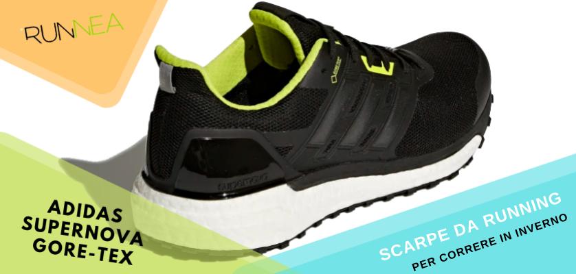 Le migliori scarpe da running per correre in inverno, Adidas Supernova Gore-Tex
