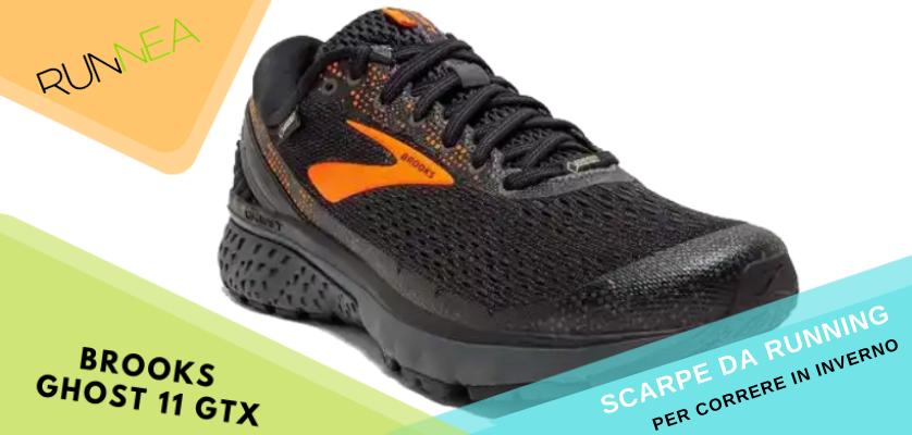 Le migliori scarpe da running per correre in inverno, Brooks Ghost 11 GTX