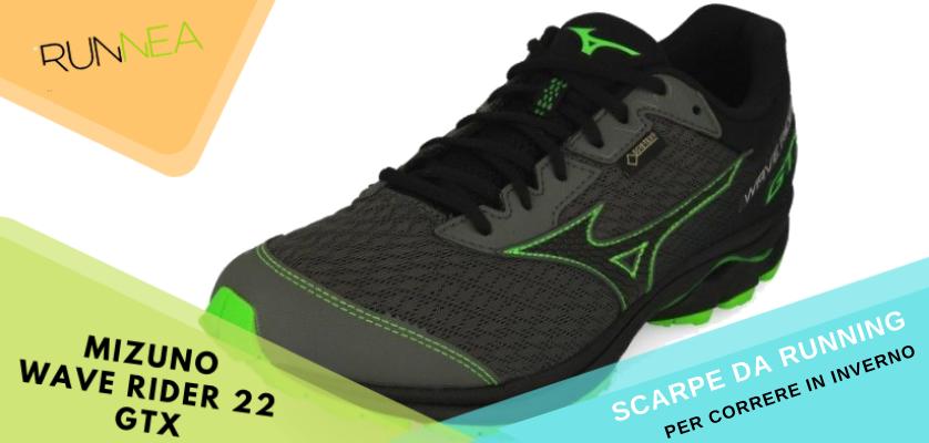 Le migliori scarpe da running per correre in inverno, Mizuno Wave Rider 22 GTX
