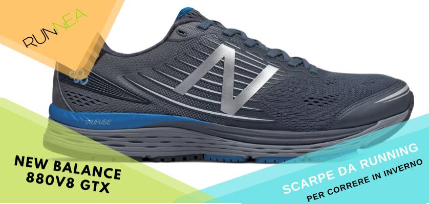 Le migliori scarpe da running per correre in inverno, New Balance 880v8 GTX