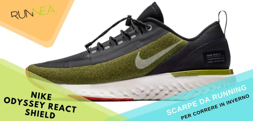 Le migliori scarpe da running per correre in inverno, Nike Odyssey React Shield