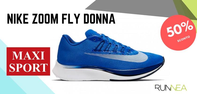 Nike Running in MaxiSport: 8 prezzi migliori su scarpe da corsa, Nike Zoom Fly donna
