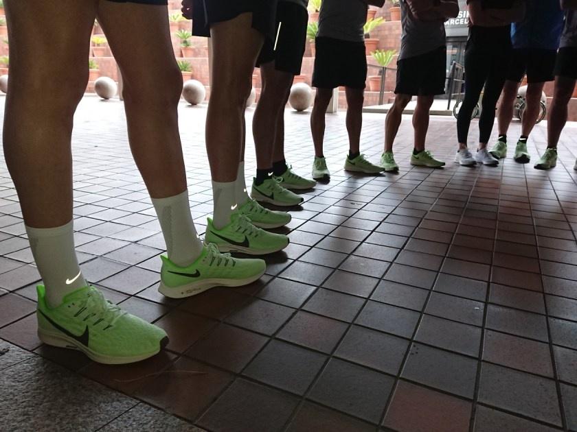 Nike Pegasus 36, piedi