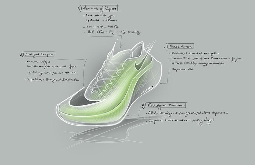 Nike ZoomX Vaporfly Next%, ridisegno della trazione