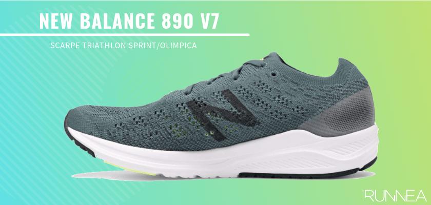 Le migliori scarpe da triathlon 2019 per battere tutti i tuoi record personali, New Balance 890 v7
