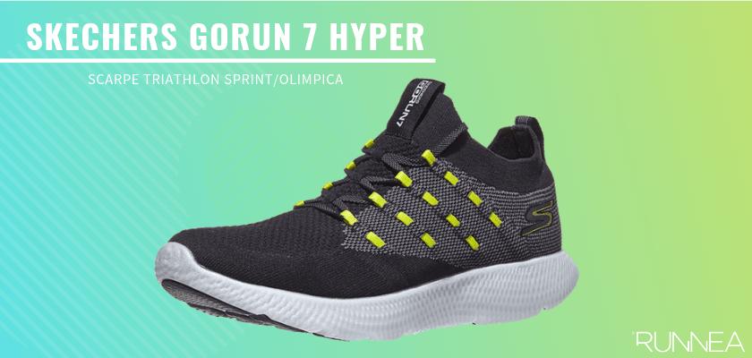 Le migliori scarpe da triathlon 2019 per battere tutti i tuoi record personali, Skechers GOrun 7 Hyper