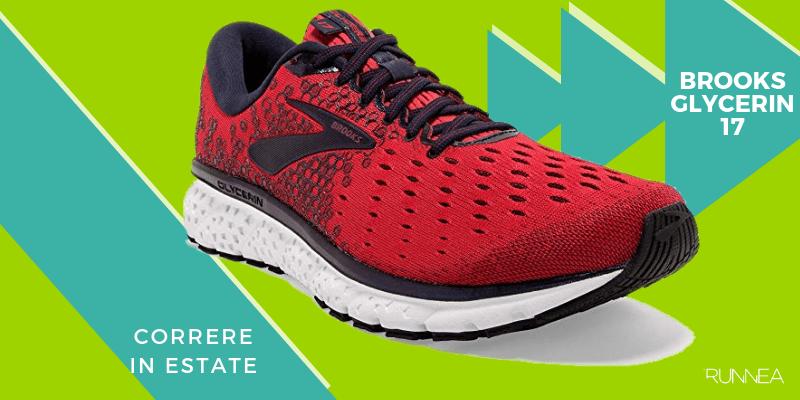 Le 8 migliori scarpe da running per correre in estate, Brooks Glycerin 17