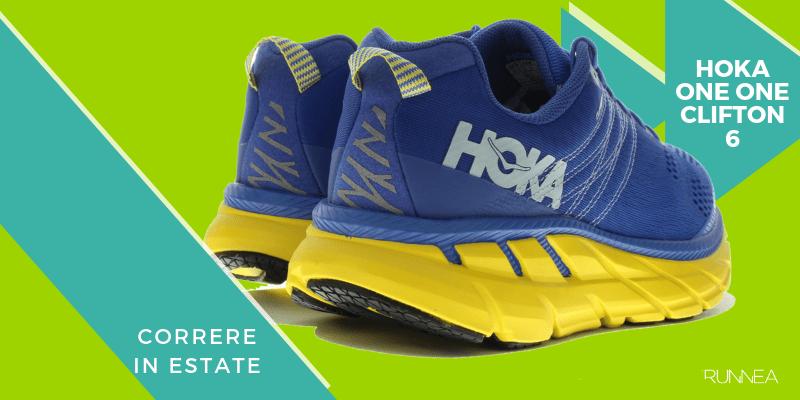 Le 8 migliori scarpe da running per correre in estate, Hoka One one Clifton 6