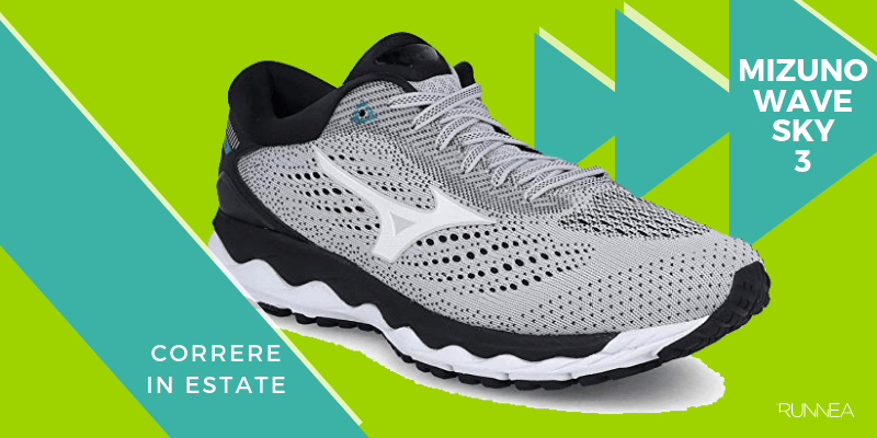Le 8 migliori scarpe da running per correre in estate, Mizuno Wave Sky 3
