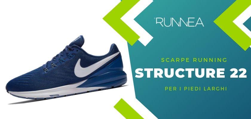 Le 4 scarpe running di Nike per i piedi larghi, Structure 22