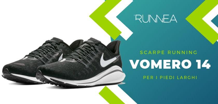 Le 4 scarpe running di Nike per i piedi larghi, Vomero 14