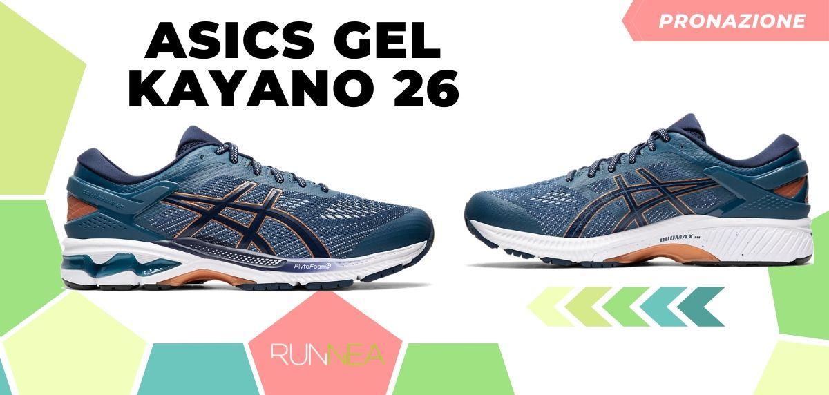 Migliori scarpe da running 2020 di pronazione, ASICS Gel Kayano 26