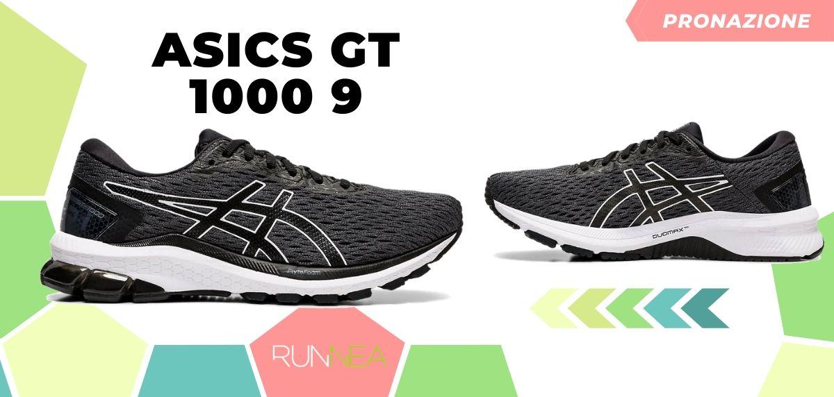 Migliori scarpe da running 2020 di pronazione, ASICS GT 1000 9